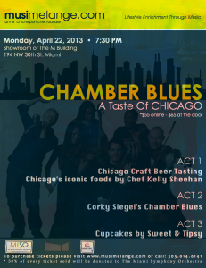 April 22nd - Chamber Blues: Taste of Chicago