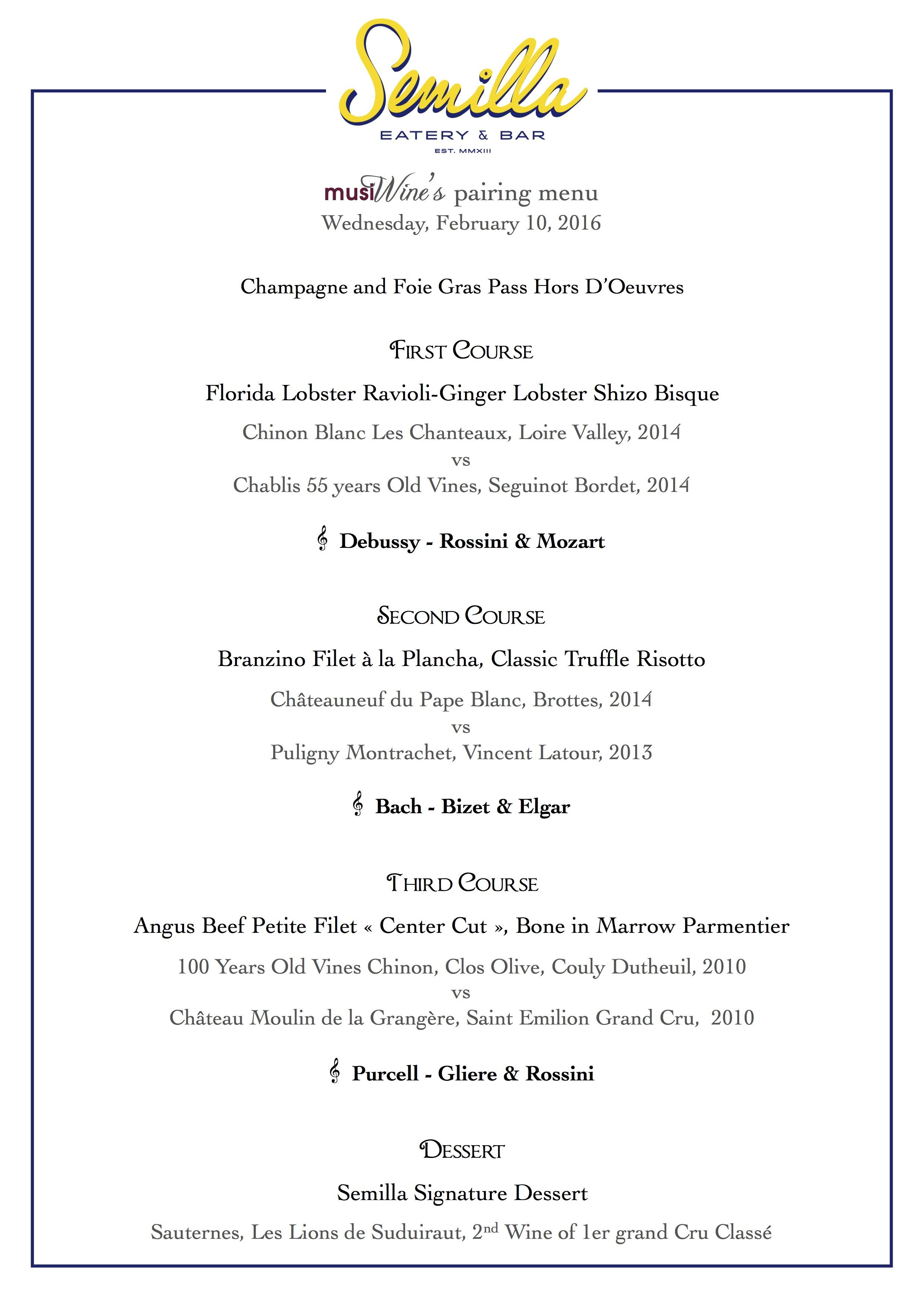 musiWine menu